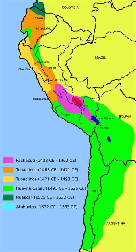 american civilizations map incas
