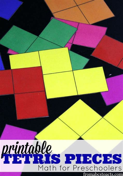 printable tetris shapes math for preschoolers printable tetris pieces a well