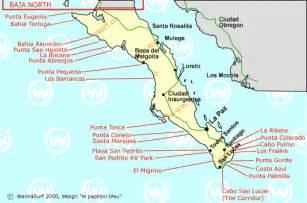 california surf map baja sur surfeando en baja sur mexico wannasurf