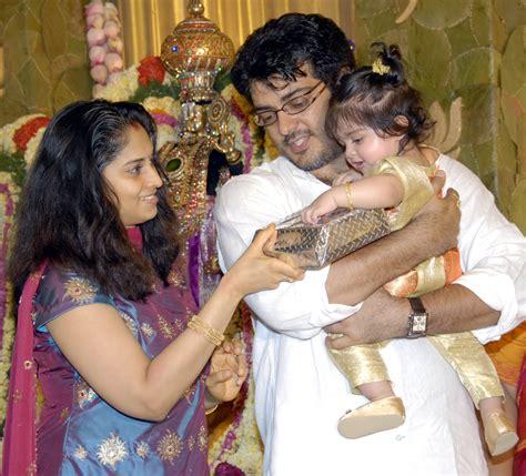 actor ajith photo ajith shalini daughter anoushka photos and wallpapers