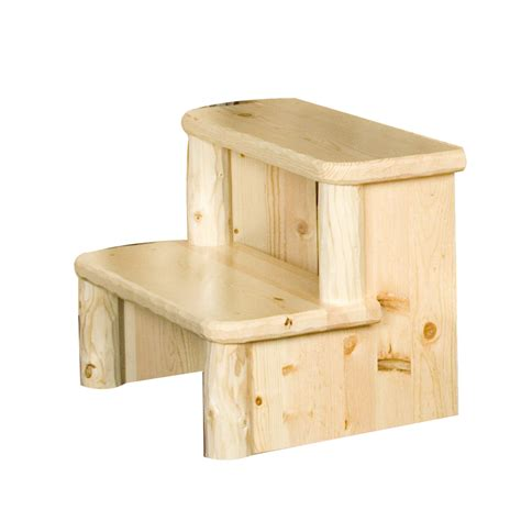 shop viking industries 2 step wood step stool at lowes