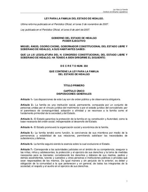 constancia de no arresto df ley para la familia del estado de hidalgo