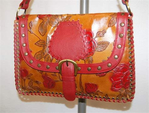 fiore floral fiore floral leather shoulder bag