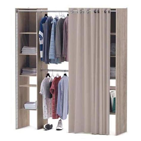 rideaux pour placard de cuisine kit placard extensible colonnes et rideau e with porte placard rideau