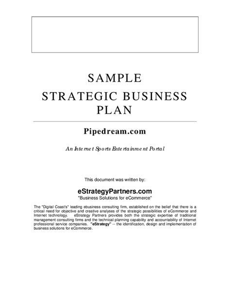 Consulting Business Plan Template Business Plan Template Consulting Business Plan Template