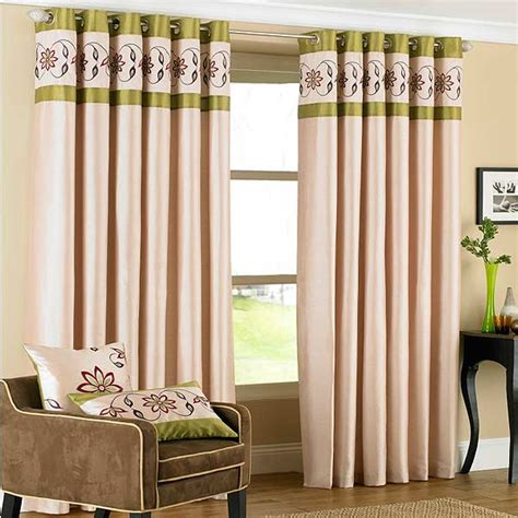 cream green curtains petra floral embroidered faux silk eyelet curtains cream