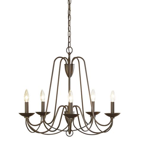 williamsburg chandelier shop allen roth wintonburg 24 25 in 5 light aged bronze