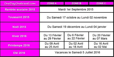 Calendrier 2016 Vacances Scolaires Grenoble Calendrier Des Vacances Scolaires 2015 2016 Les Dates