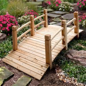 wood plank garden bridge with rails improvements catalog