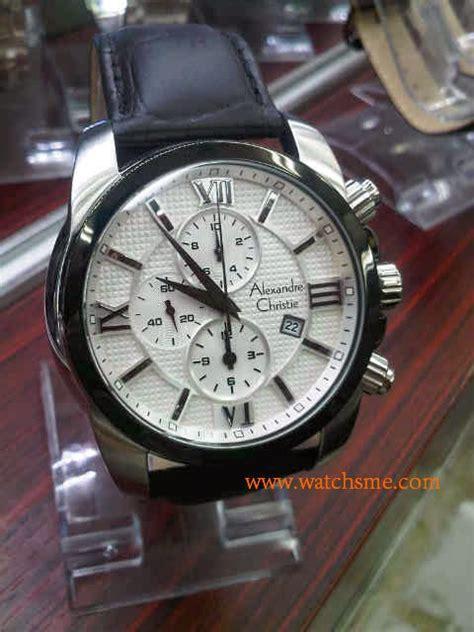 Ac 6316 Silver jam tangan original alexandre christie 6316