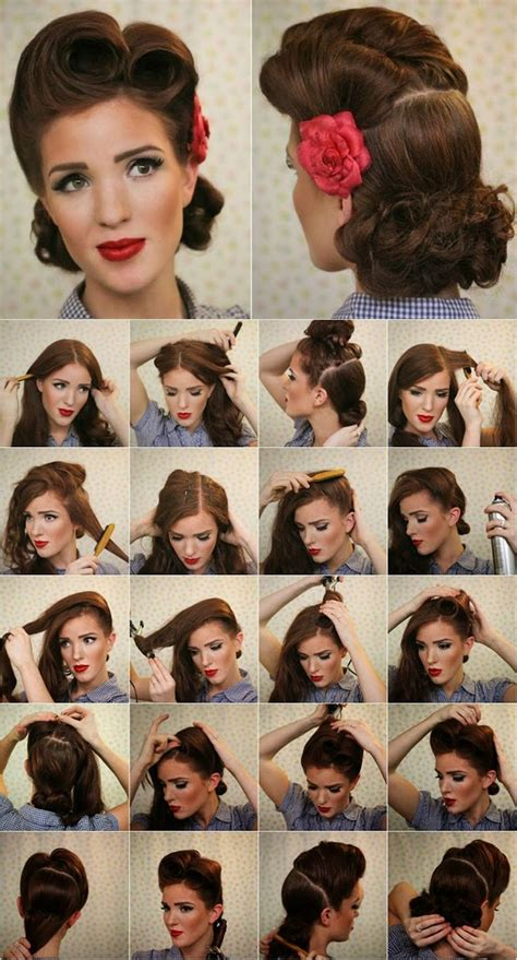 25 hairstyles with tutorials for 1940s hairstyles tutorial www pixshark images