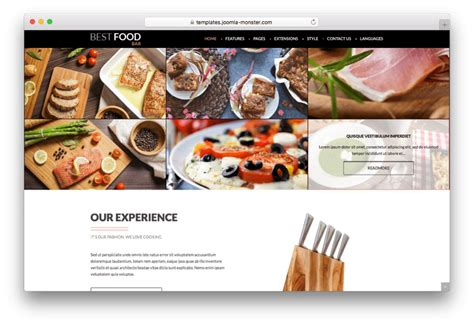 Best Food Templates 20 Best Restaurant Joomla Templates For Food Ordering System 2017