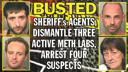 St County Active Warrant Search Sheriff S Agents Dismantle Three Active Meth Labs