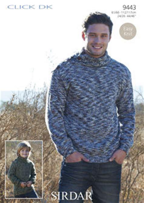 sirdar mens knitting patterns 9443 easy knit sirdar click dk mens boys sweater