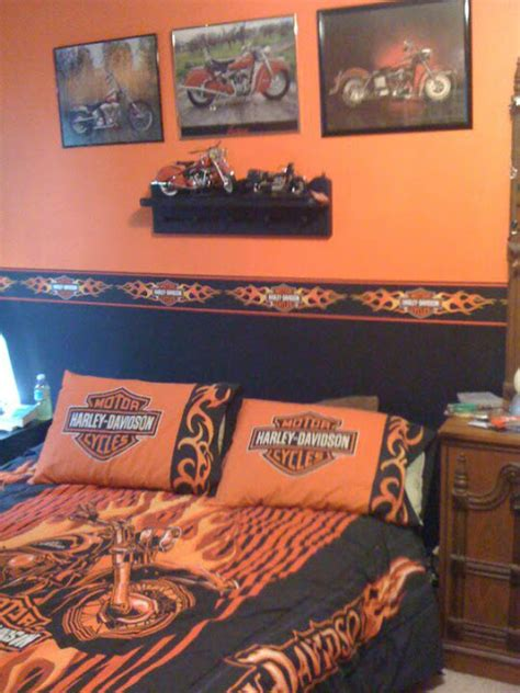harley davidson bedroom decor pin harley davidson bedding motorcycle bedroom on pinterest