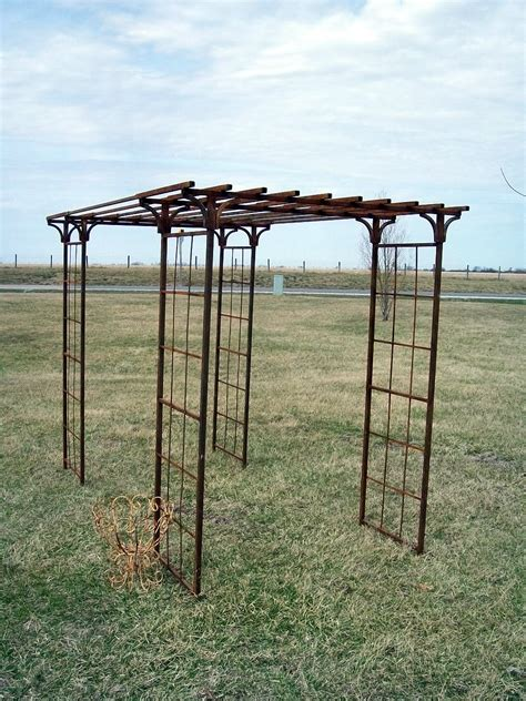 wrought iron pergola mission arbor gazebo