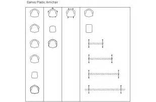 Eames Lounge Chair Cad Block Build Wooden Chair Plan Dwg Plans Download Chisel Woodworking