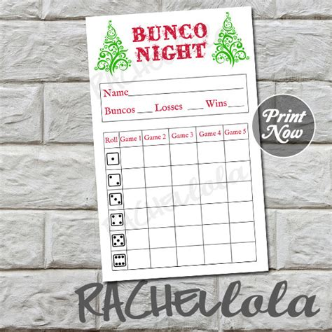 printable christmas bunco cards christmas tree bunco score card score sheet winter bunko