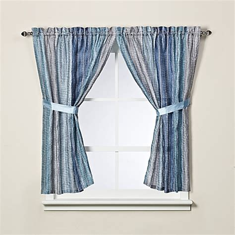 sierra blue bath window curtain panel pair bed bath beyond