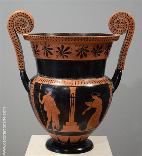 vaso canopo etrusco cr 225 asas volutas cer 225 mica griega alt 42cm venta