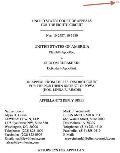 Appellate Brief Cover Page Appellate Brief Template