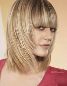 hairstyles with fullness bob with layering and a heavy fringe