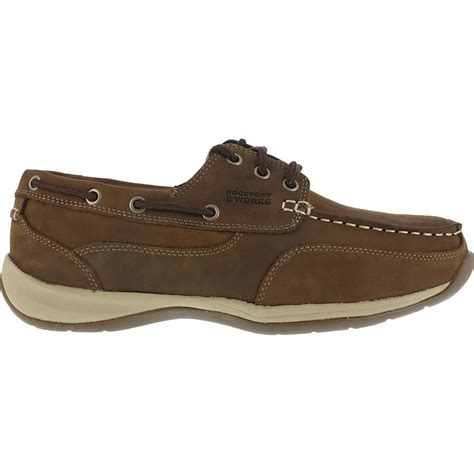 rockport boat shoes extra wide rockport steel toe casual brown leather boat shoe rk6736