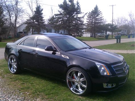 Cadillac On 22s by Cadillac Cts With 24 Inch Rims