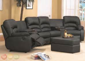 Leather Sectional Reclining Sofa Ventura Black Leather Sectional Sofa Reclining Theater Seating