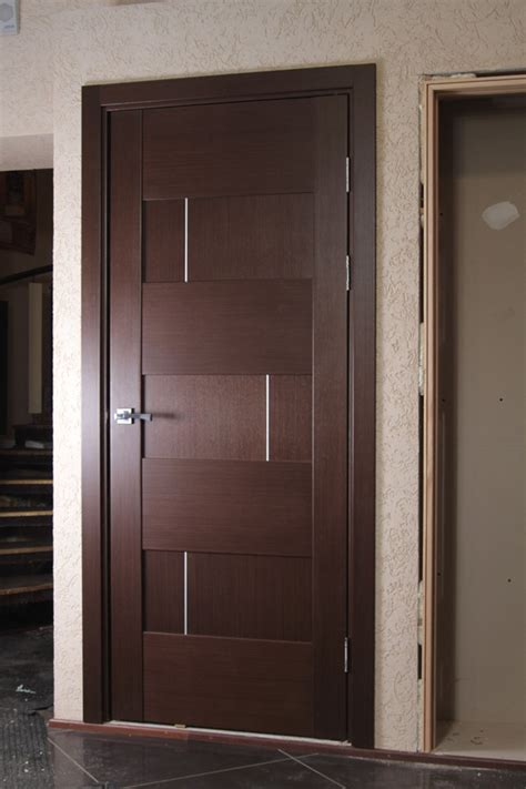 House Front Single Door Design by Quot Dominika Quot Wenge Oak Modern Interior Door