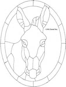 donkey stained glass pattern