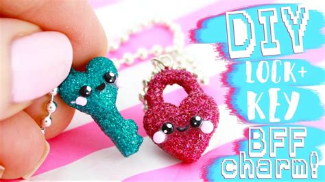 Diy Glitter Bff Lock Key Charms  E  A Ka Ii Friday