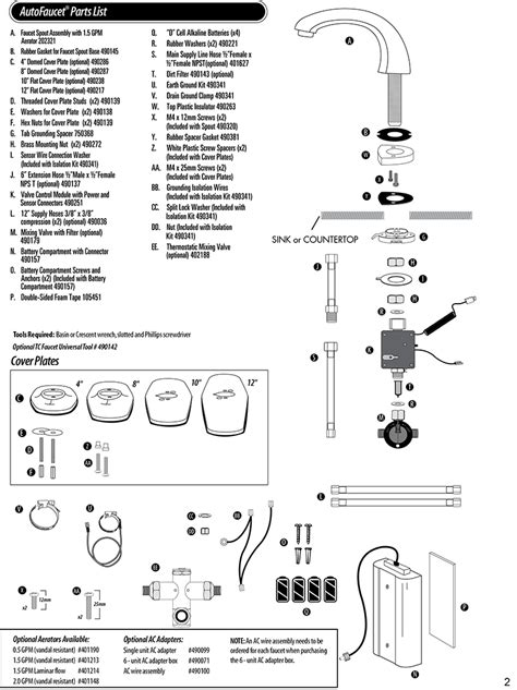 Technical Concepts Faucets tc autofaucet sst parts for autofaucets technical