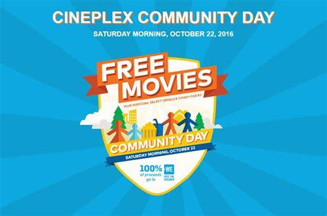 cineplex free movie day cineplex communty day 2016