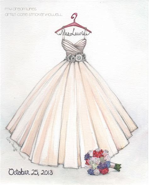 wedding dresses drawings sketched this larzaro gown for a this