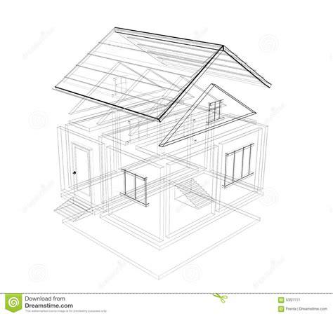 3d house sketch 3d sketch of a house stock illustration illustration of design 5391111