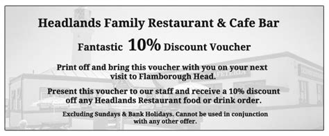 discount vouchers uk restaurants headlands family restaurant cafe bar at flamborough head