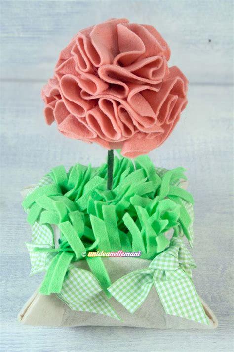 come fare i fiori di pannolenci come fare un grazioso vaso con fiori in feltro