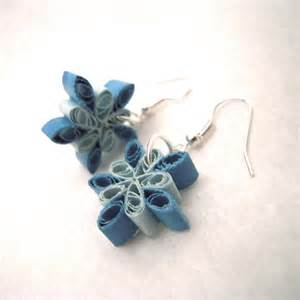 quilling earrings images snowflake quilled earrings quilling