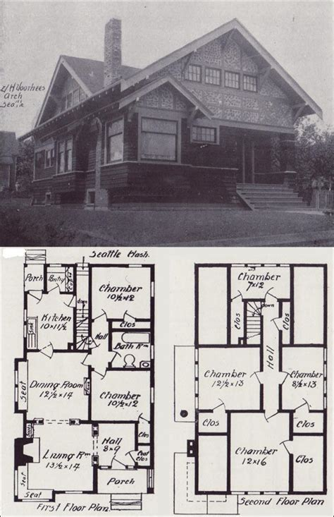 old home plans old vintage 1908 house bungalow blueprint plan how to