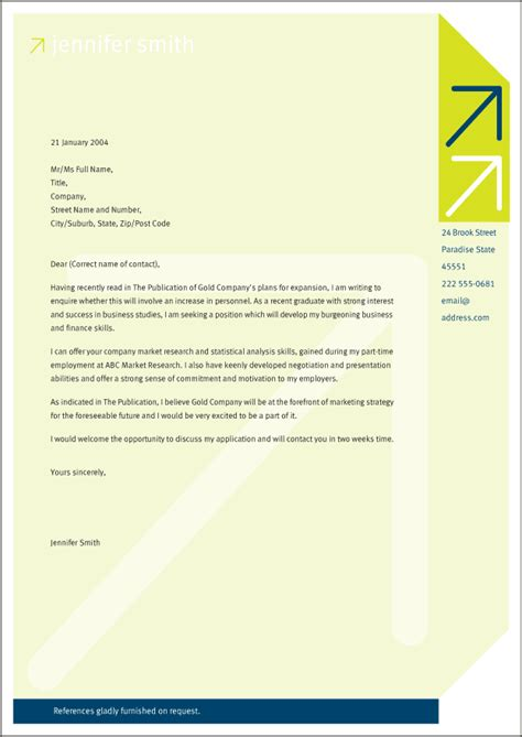 Great Cover Letter For Resume cover letter is used as a marketing tool however a great cover letter