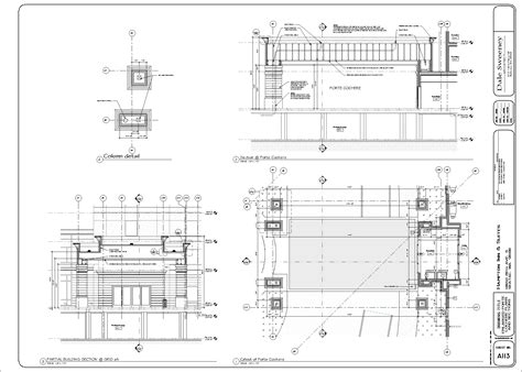 porte cochere plans monsef donogh design grouphton inn suites seatac sheet a113 enlarged porte cochere