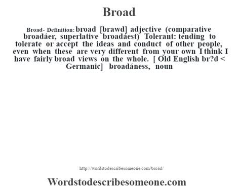 Broader Themes Definition | broad definition broad meaning words to describe someone