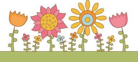 Flower Garden Clipart Yellow Flower Clipart Garden Pencil And In Color Yellow Flower Clipart Garden