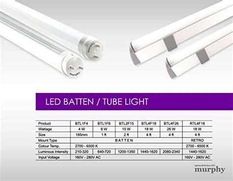 4 feet tube light buy mazda led t5 18w tube light pack of 2 white slim 4