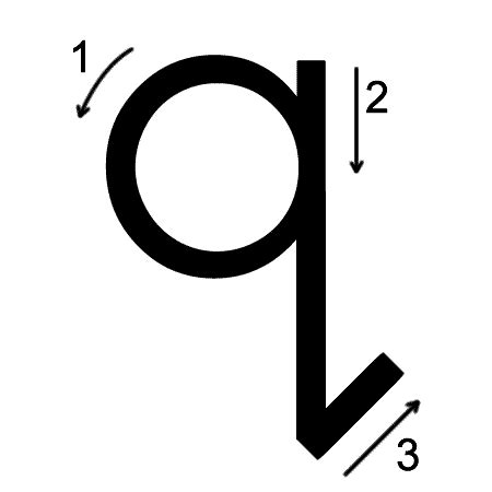 letter q printing worksheet both cases trace 1 print 1