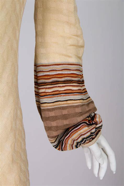 Lower V Shape Knit Dress missoni boho sleeved dress for sale at 1stdibs