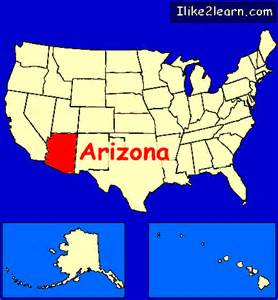 arizona usa map arizona