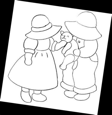 sun bonnet sue free colouring pages