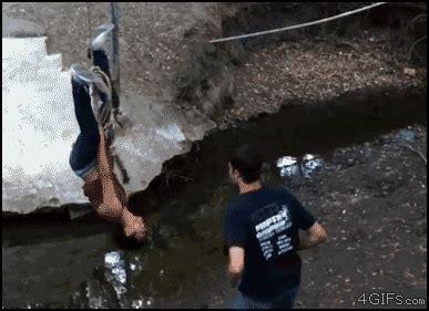 rope swing fail rope swing fail gif lolz humor